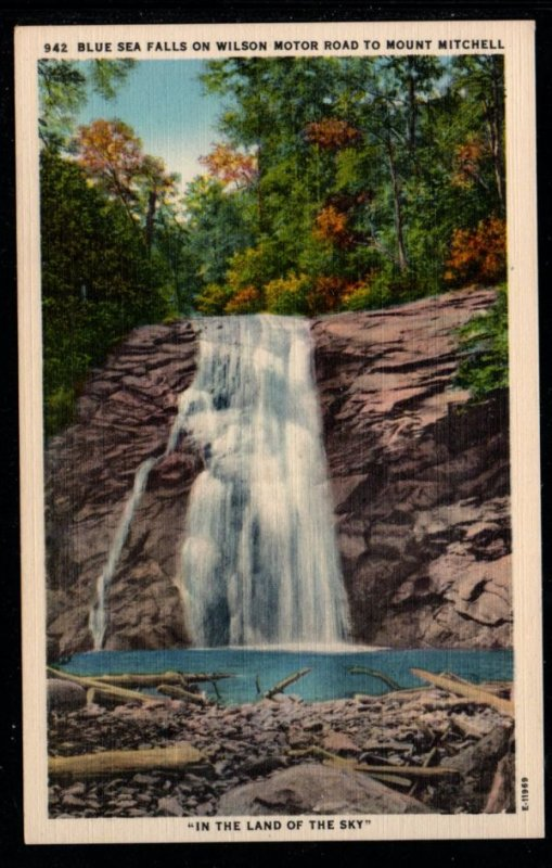 Blue Sea Falls Wilson Motor Road to Mount Mitchell N.C., Unused