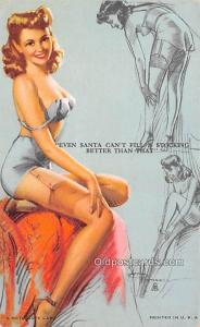 1945 Mutoscope Artist Pin Up Girl, Non Postcard Backing Unused