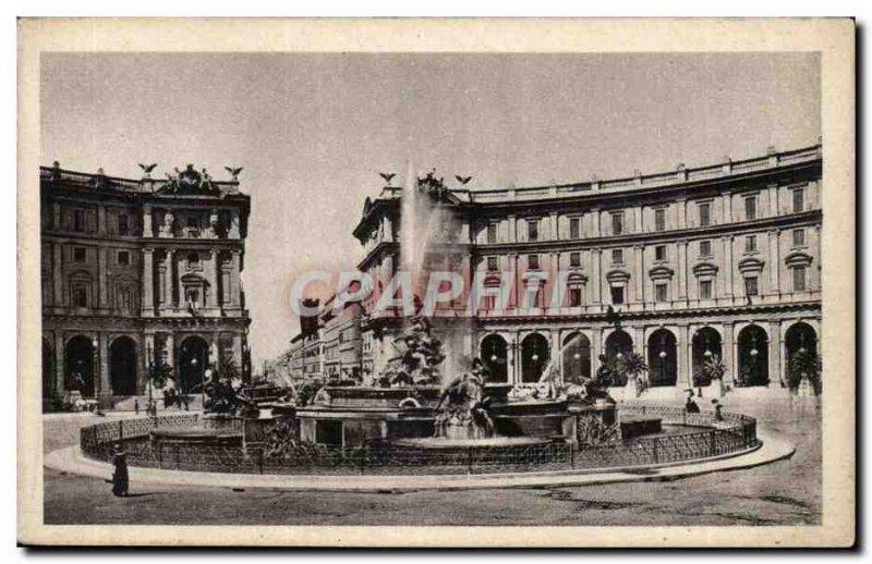 Italy Italia Roma Postcard Old Piazza esebra has Termini