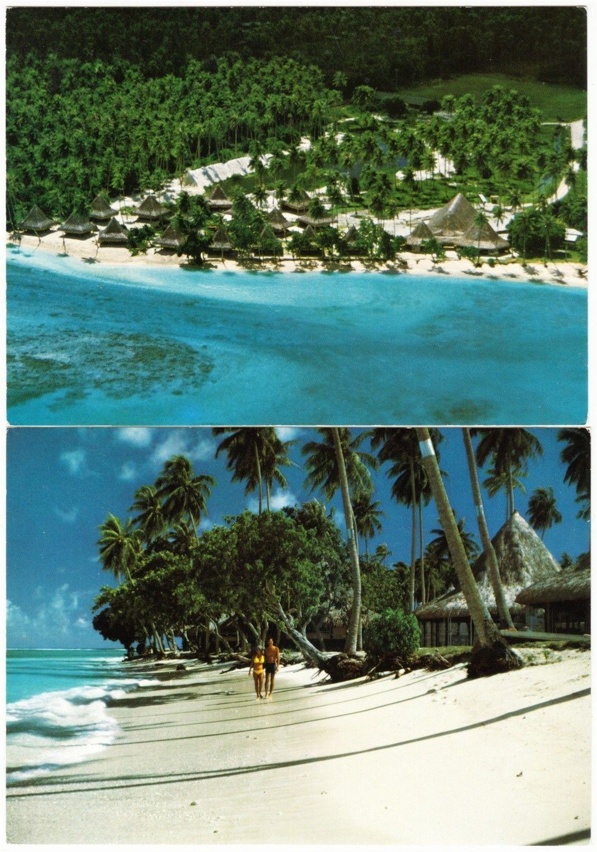 Where Is Bali Hai Island huahine society islands hotel bali hai 1970s-1980s postcards
