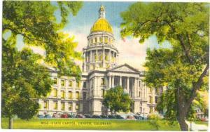 State Capitol in Denver Colorado CO, Linen