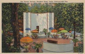 CEDAR POINT, Ohio, 1930-40s; The Tavern Terrace, Breakers Hotel, on Lake Erie