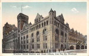 Montreal    Windsor Street Station and Head Offices, Canadian Pacific RR
