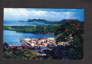 Island St Lucia West Indies Postcard Pan American World Clipper Airlines Planes
