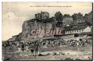 Old Postcard Ault On the Sand and Cliff to Onival