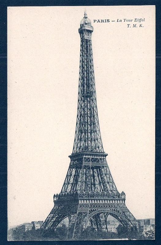 Eiffel Tower Paris France unused c1920's
