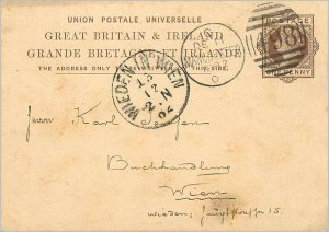 Entier Postal Stationery Postal Great Britain Great Britain 1882 Manchester t...