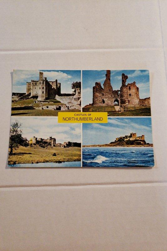Castles of Northumberland,  by J. Arthur Dixon  70s postcard