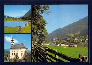 Flachau Salzburger Land Kirche Church Lake General view