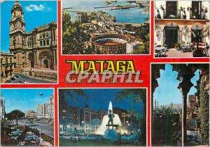 Postcard Modern Malaga Vistas Varias