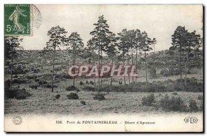 Postcard Old Forest of Fontainebleau Desert d & # 39Apremont