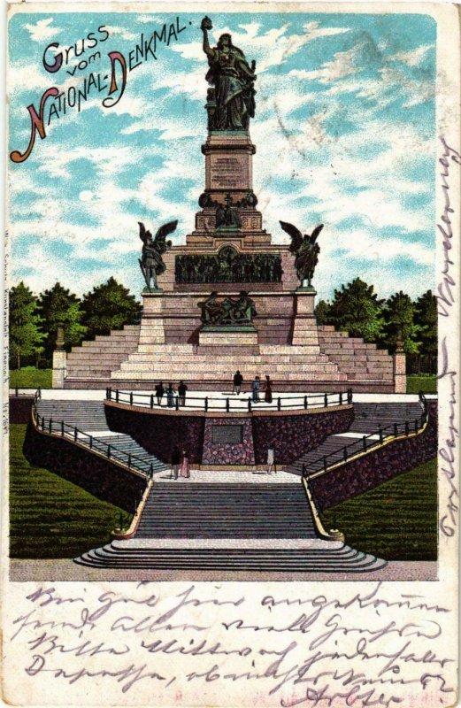 CPA AK Rudesheim Gruss vom National-Denkmal GERMANY (895085)