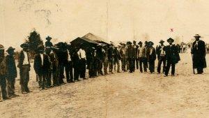 Vtg  RPPC First Insurrecto Army Mexico - Jan 29, 1911 Gov. Terrazas Prisoner
