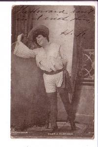Actress, Gloria Martinez, Rotophot, Flag Cancel 1906
