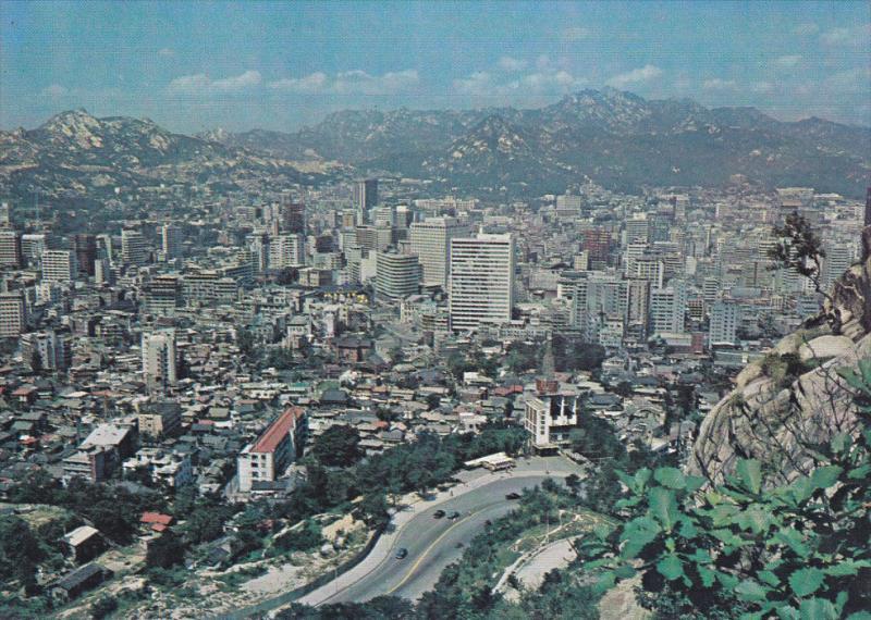 Aerial View of Seoul Metropolitan, SEOUL, South Korea, 50-70's