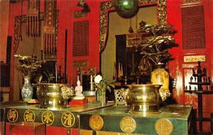 Malaysia Old Vintage Antique Post Card Snake Temple Penang Unused