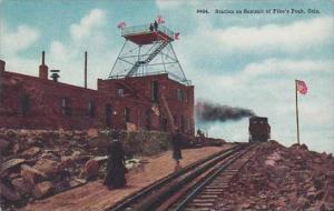 Colorado Station On Summit Of Pikes Peak