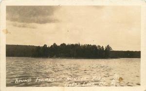 Grand Lake Maine 1920s Round Island Sunset Park Porter RPPC real photo 6734