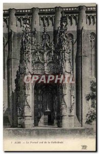 Old Postcard Albi South Portal of the Cathedral