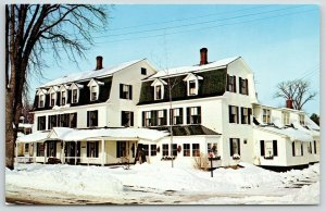 North Conway NH~Deep Snow Drifts @ The Cranmore Inn~Ski Lodge~Mobil Guide~1960s