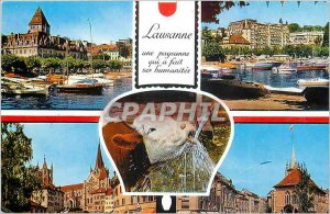 Modern Postcard Lausanne peasant who made his humanities Cow