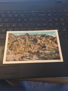 Vtg Postcard: Scene in the Bottom of Hell's Half Acre, Colorado