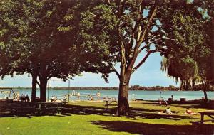 Syracuse Indiana~Syracuse Lake~City Park~Beach~Life Guard~Swing Set~1950s PC