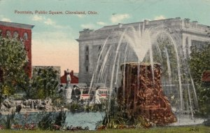 CLEVELAND , Ohio , PU-1915 : Fountain , Public Square