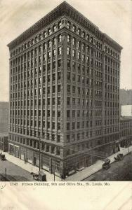St Louis Missouri~Frisco System to Chicago Building~9th & Olive Streets~1905 B&W