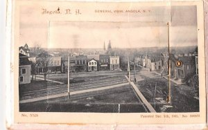 General View Angola, New York Postcard