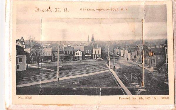 General View Angola, New York Postcard