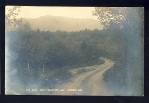 Jaffrey, New Hampshire/NH Postcard, The Road Near Shattuck Inn, 1916!