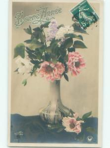 tinted rppc c1910 BEAUTIFUL FLOWERS AC9136