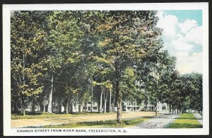 Church Street From River Bank Fredericton CANADA Unused c1920s