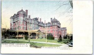 Lakewood, New Jersey Postcard PALMER HOUSE Hotel - Pub A.P. Conklin c1900s