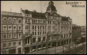 Germany Post-WWI Revolution Leipzig Volkshaus 61419