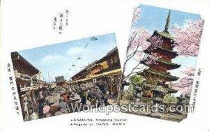 AsakUSA Shopping, Pagoda Ueno Park Japan Unused