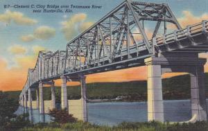 Clement C. Clay Bridge over Tennessee River near Huntsville, Alabama, 30-40s
