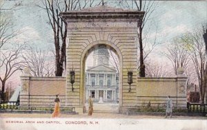 Memorial Arch And Capitol Concord New Hampshire 1909