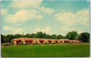 Terre Haute, Indiana Postcard STONE LODGE MOTEL Highway 40 Roadside 1960s Unused