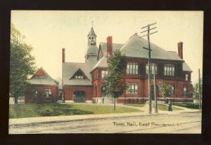 East Providence, Rhode Island/RI Postcard, Town Hall
