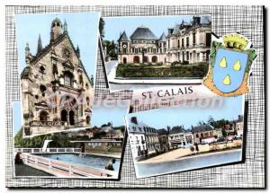 Modern Postcard St Calais Sarthe multiview