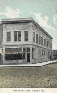 LP30 Portland Indiana Vintage Postcard First National Bank