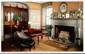Maine Portland Longfellow's Old Home The Sitting Or Living Room Detroit ...