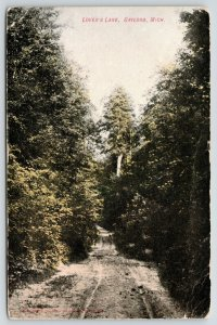 Gaylord Michigan~Lovers Lane~Deeply Rutted Road Thru Forest~1908 B&W Postcard