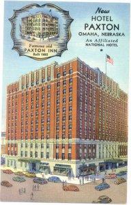 Linen View of New Hotel Paxton, Omaha, Nebraska, NE