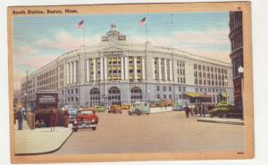 P280 JL 1949 postcard boston mass so RR station old cars