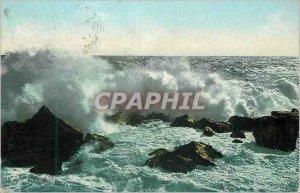 Old Postcard Breaking Wave Crimea