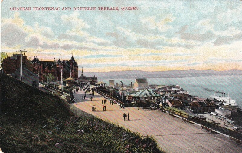 QUEBEC, Canada, 1900-10s; Chateau Frontenac and Dufferin Terrace