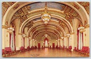 Chicago Illinois~Charming Chandelier~Hotel La Salle~Grand Ballroom~c1910 PC